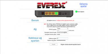 Everest Modem Kurulumu